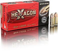 GECO 9MM LUGER VM HEXAGON 8,0G